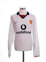 2002-03 Manchester United Away Shirt L/S *BNWT* XXL