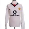 2002-03 Manchester United Away Shirt Scholes #18 L/S XL
