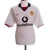 2002-03 Manchester United Away Shirt Beckham #7 M.Boys