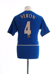 2002-03 Manchester United Third Shirt Veron #4 XL.Boys