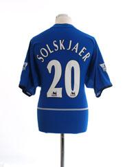 2002-03 Manchester United Third Shirt Solskjaer #20 L