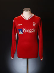 2002-03 Nottingham Forest Home Shirt L/S L