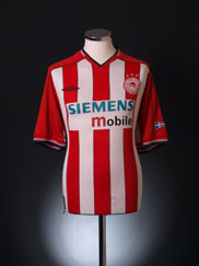 2002-03 Olympiakos Home Shirt XL
