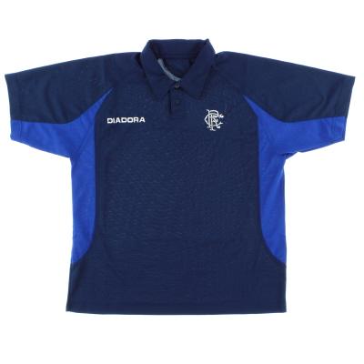 2002-03 Rangers Diadora Polo Shirt L