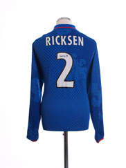 2002-03 Rangers Home Shirt Ricksen #2 L/S XL