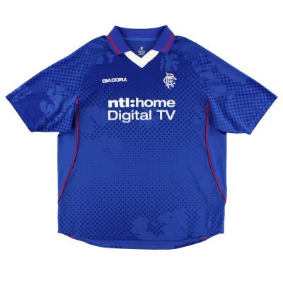 2002-03 Rangers Diadora Home Shirt L