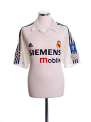 2002-03 Real Madrid Centenary Champions League Home Shirt XL