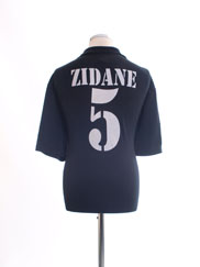 2002-03 Real Madrid Centenary Away Shirt Zidane #5 XL