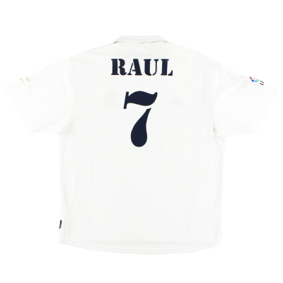 2002-03 Real Madrid Centenary Home Shirt Raul #7 XL