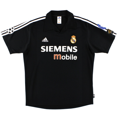 2002-03 Real Madrid Centenary Champions League Away Shirt L