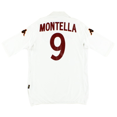 2002-03 Roma Away Shirt Montella #9 XXL