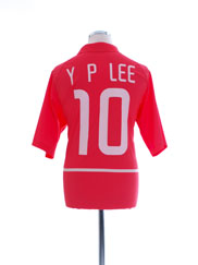 2002-03 South Korea Basic Home Shirt Y P Lee #10 XL