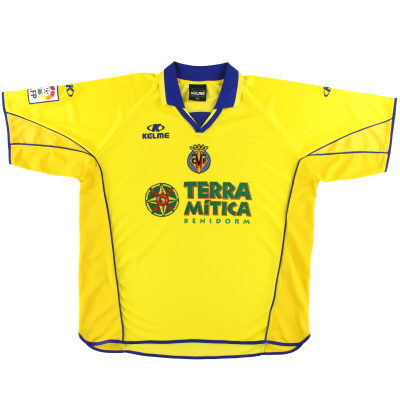 2002-03 Villarreal Kelme Home Shirt *Mint* XL