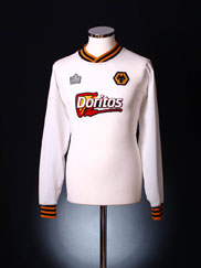2002-03 Wolves Away Shirt L/S XL