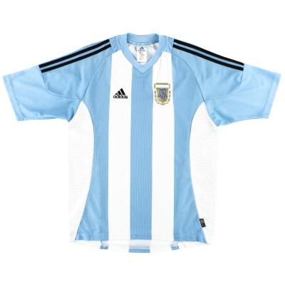 2002-04 Argentina adidas Home Shirt M