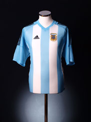 2002-04 Argentina Home Shirt *As New* L