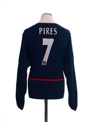 2002-04 Arsenal Away Shirt Pires #7 L/S L