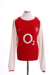 2002-04 Arsenal Home Shirt L/S L