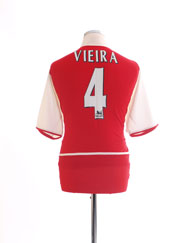 2002-04 Arsenal Home Shirt Vieira #4 L
