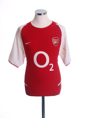 2002-04 Arsenal Home Shirt *Mint* XL