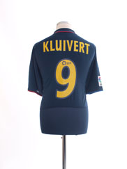 2002-04 Barcelona Away Shirt Kluivert #9 *BNWT* L