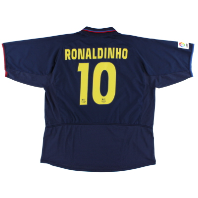 2002-04 Barcelona Away Shirt Ronaldinho #10 XXL