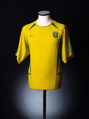 2002-04 Brazil Home Shirt L