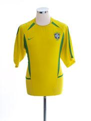 2002-04 Brazil Home Shirt S