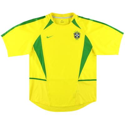 2002-04 Brazil Nike Home Shirt L