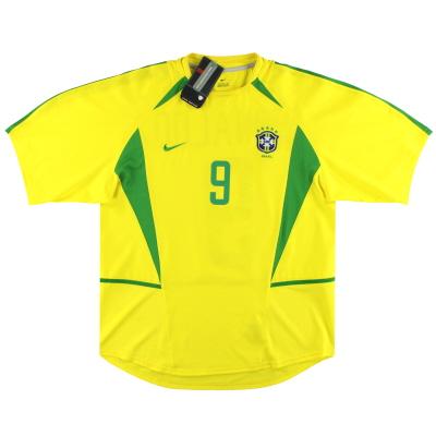 2002-04 Brazil Nike Home Shirt Ronaldo #9 *w/tags* L