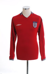 2002-04 England Away Shirt L/S M