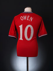 2002-04 England Away Shirt Owen #10 L