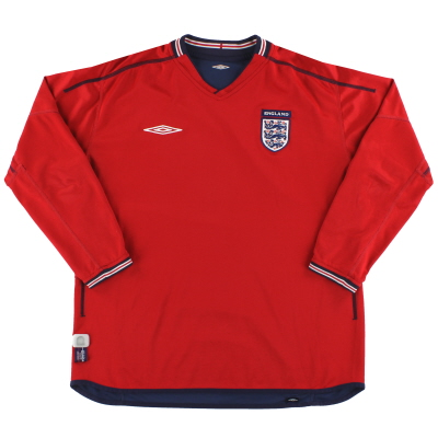 2002-04 England Umbro Away Shirt L/S XL