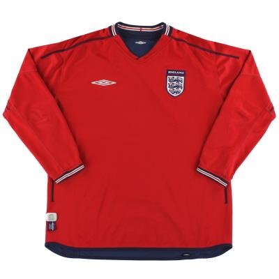 2002-04 England Umbro Away Shirt L/S S
