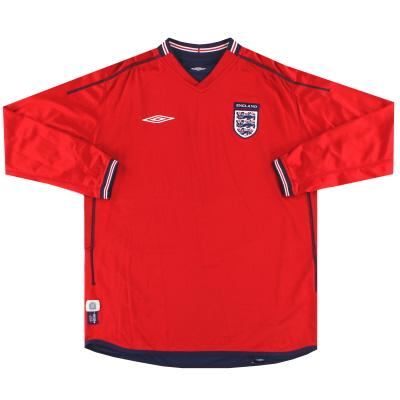 2002-04 England Umbro Away Shirt L/S XL