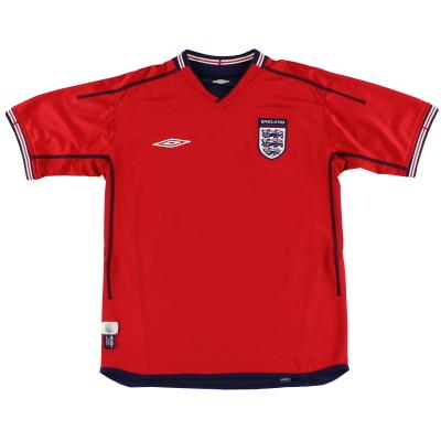 2002-04 England Umbro Away Shirt *Mint* XL