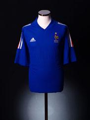 2002-04 France Home Shirt *Mint* XL