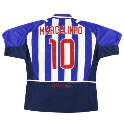 2002-04 Hertha Berlin Nike Home Shirt Marcelinho #10 XXL