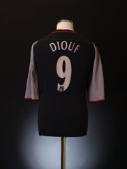 2002-04 Liverpool Away Shirt Diouf #9 XL