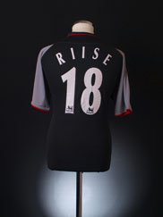 2002-04 Liverpool Away Shirt Riise #18 M