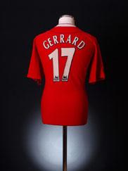 2002-04 Liverpool Home Shirt Gerrard #17 XL