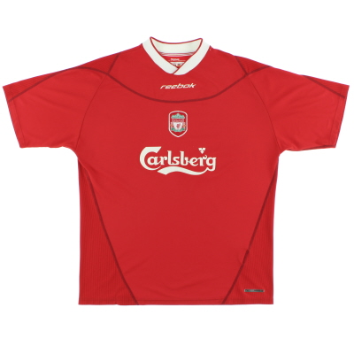 2002-04 Liverpool Reebok Home Shirt *Mint* L