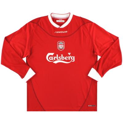 2002-04 Liverpool Reebok Home Shirt L/S XL