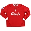 2002-04 Liverpool Reserves Match Issue Home Shirt #2 L/S XL