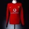 2002-04 Manchester United Home Shirt Solskjaer #20 L/S L