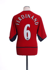 2002-04 Manchester United Home Shirt Ferdinand #6 L
