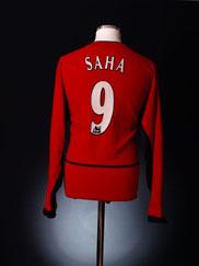2002-04 Manchester United Home Shirt Saha #9 L/S XL