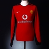 2002-04 Manchester United Home Shirt Saha #9 L/S XL