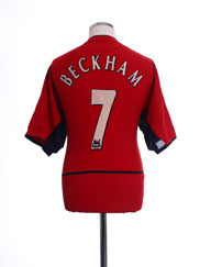 2002-04 Manchester United Home Shirt Beckham #7 L