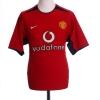2002-04 Manchester United Home Shirt Solskjaer #20 S